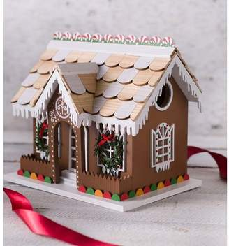 Plow & Hearth Gingerbread Cottage 7.5 in x 8.75 in x 6.4 in Birdhouse