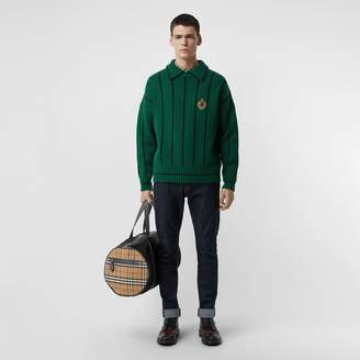 Burberry Striped Wool Cashmere Sweater