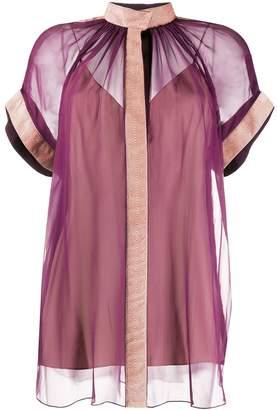 Maison Rabih Kayrouz loose-fit sheer blouse