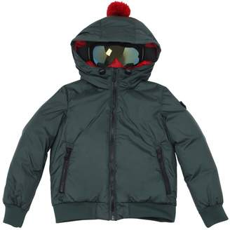 AI Riders On The Storm Hooded Water Resistant Nylon Down Jacket