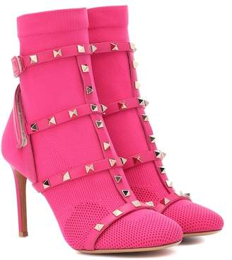 Valentino Rockstud Bodytech ankle boots
