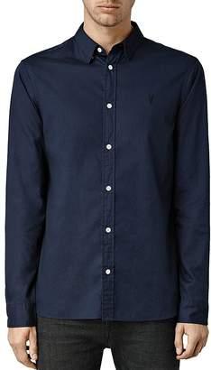 ALLSAINTS Redondo Slim Fit Button-Down Shirt $128 thestylecure.com