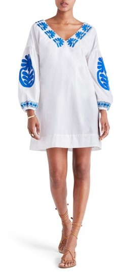 Women's Madewell Embroidered Applique Shift Dress