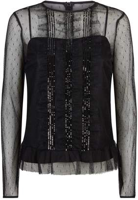 RED Valentino Lace Sequin Top
