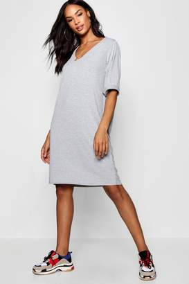 boohoo Tall Turn Cuff Oversized T-Shirt Dress