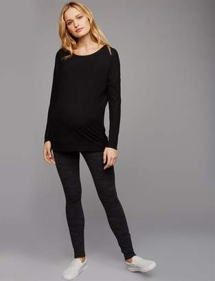 A Pea in the Pod Under Belly Rib Knit Maternity Leggings