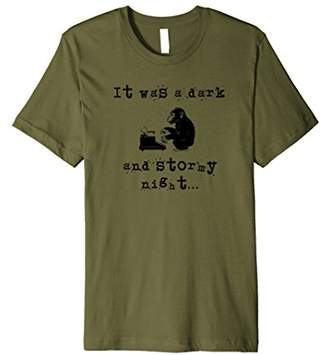 It Was a Dark and Stormy Night Funny T-shirt for Writers