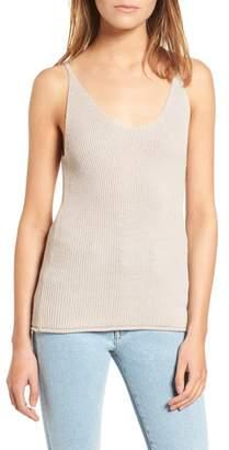 Cotton Emporium Double Scoop Sweater Tank Top