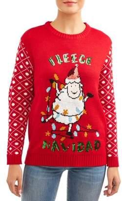 """Merry Christmas Women's """"Fleece Navidad"""" Ugly Christmas Sweater"""