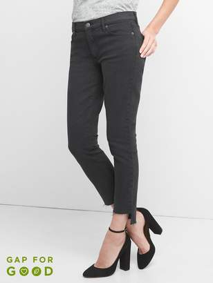 Gap Mid Rise True Skinny Ankle Jeans with Step-Hem
