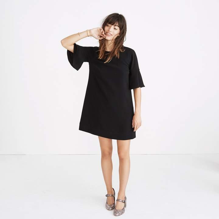 Flutter-Sleeve Mini Dress