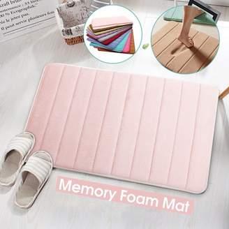 """Generic 20""""x30"""" Memory Foam Mat Absorbent Non-Slip Back Pad Bedroom Bathroom Rug Shower Bath Mats Kitchen Door Carpet"""