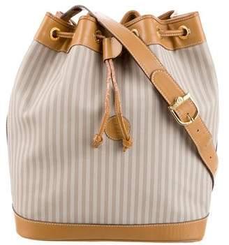 Fendi Pequin Drawstring Bucket Bag
