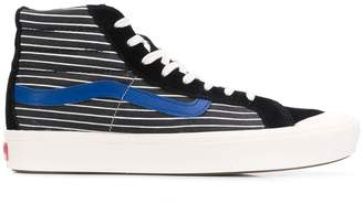 Vans stripe print hi-top sneakers