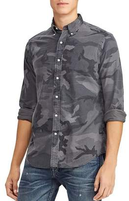 Polo Ralph Lauren Camouflage-Print Classic Fit Button-Down Shirt