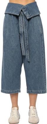 Loewe Oversize Crop Cotton Denim Jeans