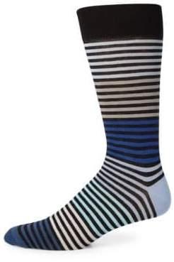Saks Fifth Avenue COLLECTION Multi-Tonal Striped Socks