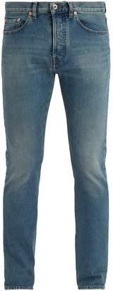 Valentino Mid-rise slim-leg jeans