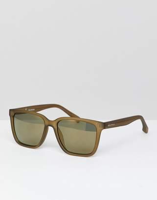 Jack Wills Square Sunglasses in Olive