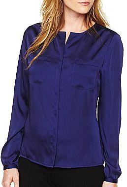 Liz Claiborne Long-Sleeve Woven Shirt