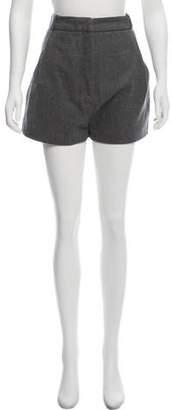 Acne Studios Wool High-Rise Shorts