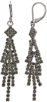 Vera Wang Simply Vera Gray Simulated Crystal Chandelier Earrings