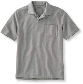 L.L. Bean L.L.Bean Men's Premium Double LA Polo, Hemmed Short-Sleeve with Pocket