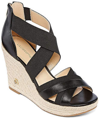 Liz Claiborne Womens Helena Wedge Sandals