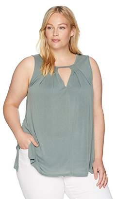 Lucky Brand Women's Size Plus Cutout Tunic TOP