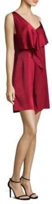 Diane von Furstenberg Asymmetrical Ruffle Dress