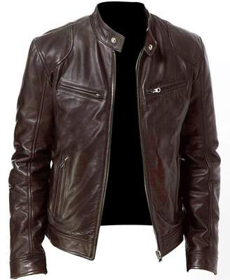 NBENTERPRISES Genuine Men's Leather Bomber Jacket (L)