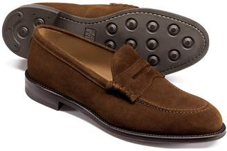 Charles Tyrwhitt Brown Suede Penny Loafers Size 8