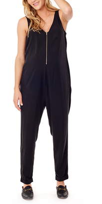 Ingrid & Isabel R) Zip Front Maternity/Nursing Jumpsuit