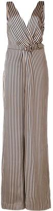 Jonathan Simkhai wrap V-neck striped jumpsuit