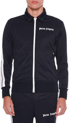 Palm Angels Men's Spread-Collar Track Jacket