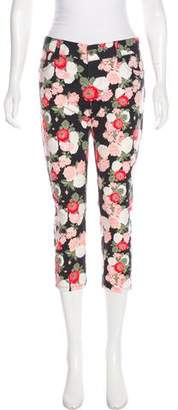 Alice + Olivia Floral Print Low-Rise Jeans