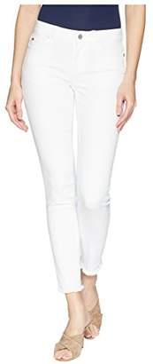 Vince Camuto Women's Frayed Hem White Five Pocket Jean