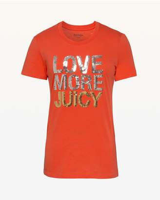 Juicy Couture Love More Juicy Short Sleeve Tee