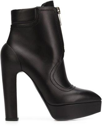 Vera Wang high-heel zip boots $1,450 thestylecure.com