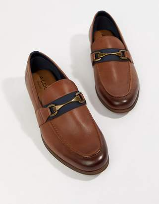 Aldo Gwiradien bar loafers in tan leather