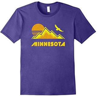 Retro Minnesota T-Shirt Distressed Hiking Tee