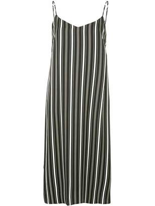 GUILD PRIME striped midi slip dress