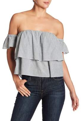 Lucky Brand Tiered Ruffle Off-the-Shoulder Blouse