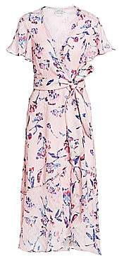 Tanya Taylor Women's Blaire Floral Wrap Midi Dress