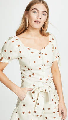 Moon River Polka Dot Blouse