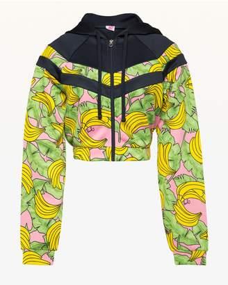 Juicy Couture JXJC Banana Print Colorblock Tricot Jacket
