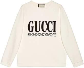Cities print sweatshirt