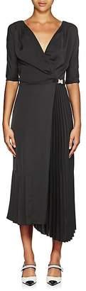 Prada Women's Tech-Crepe Belted Wrap-Front Dress