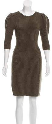 Fendi Rib Knit Mini Dress