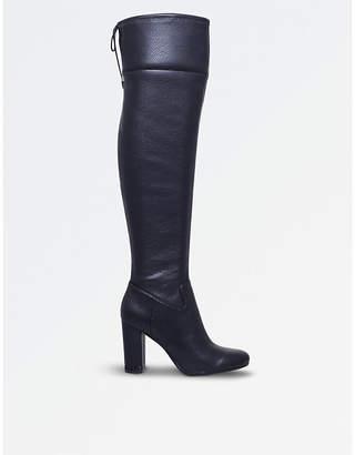 MICHAEL Michael Kors Michael Kors Ladies Black Jamie Over-The-Knee Leather Boots